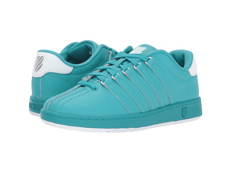 K-Swiss Kids - Classic VN (Big Kid) (Baltic/White) Kids Shoes