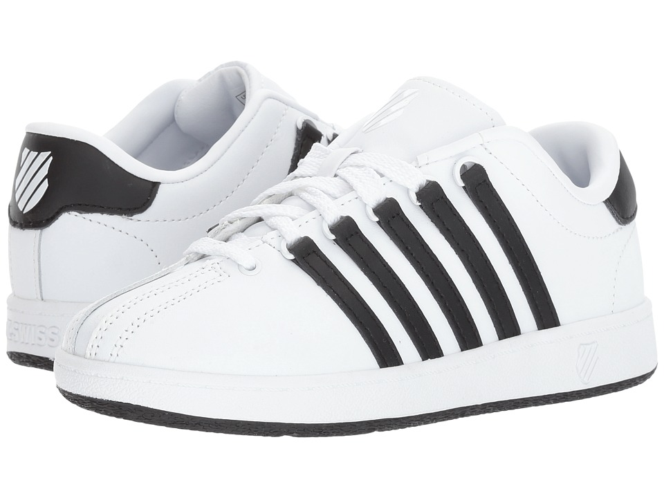K-Swiss Kids - Classic VN (Big Kid) (White/Black/Black) Kids Shoes