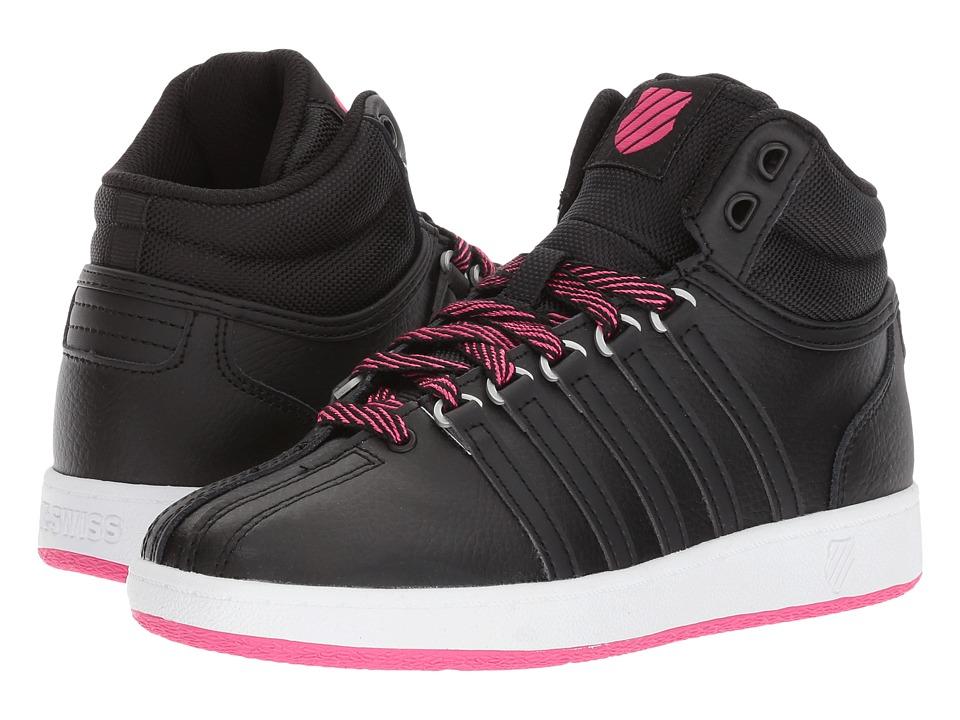 K-Swiss Kids - Classic VN Midtm (Big Kid) (Black/White/Beetroot Purple) Kids Shoes