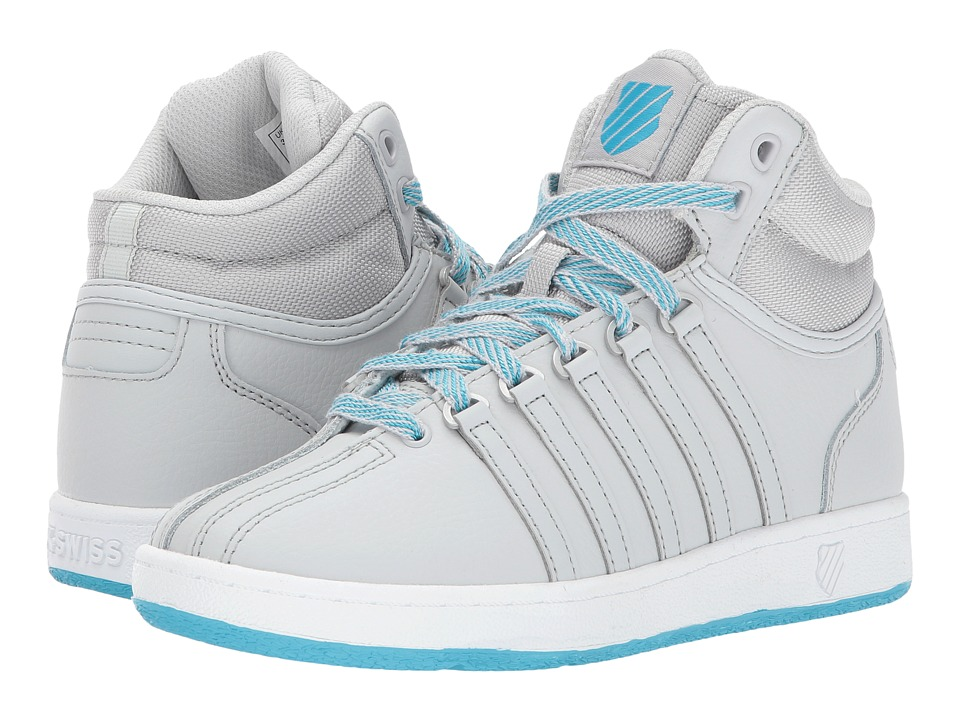 K-Swiss Kids - Classic VN Midtm (Big Kid) (Glacier Gray/White/Blue Atoll) Kids Shoes