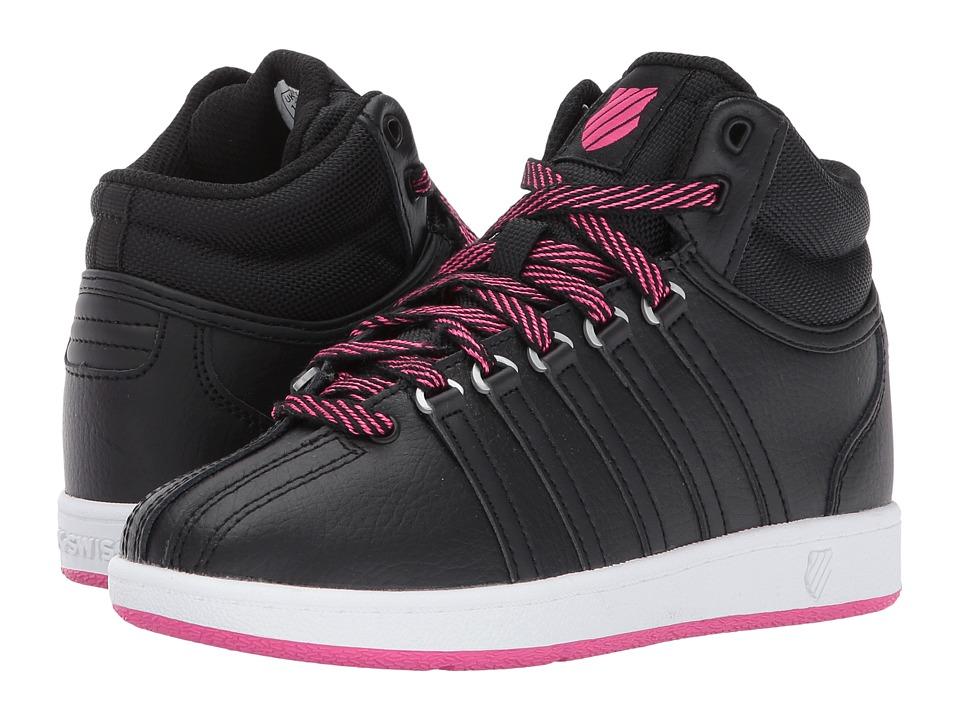 K-Swiss Kids - Classic VN Midtm (Little Kid) (Black/White/Beetroot Purple) Kids Shoes