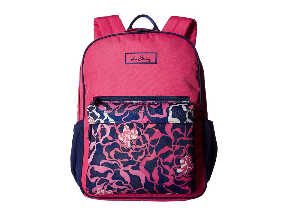 Vera Bradley - Small Color Block Backpack (Katalina Pink) Backpack Bags