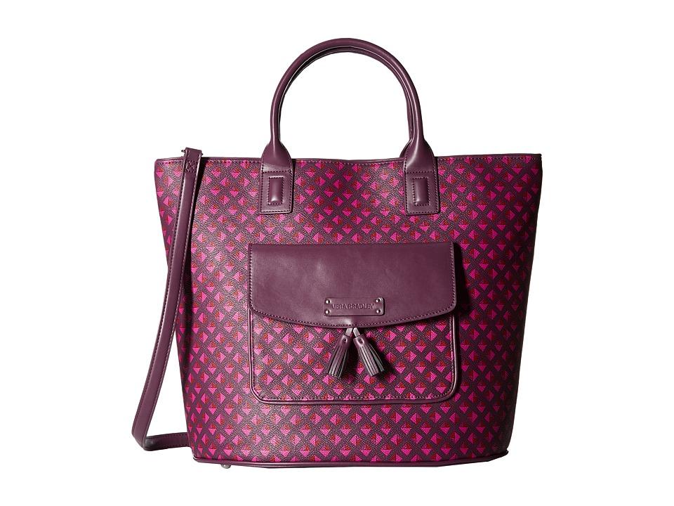 Vera Bradley - Tassel Tote (Plum Studs) Tote Handbags