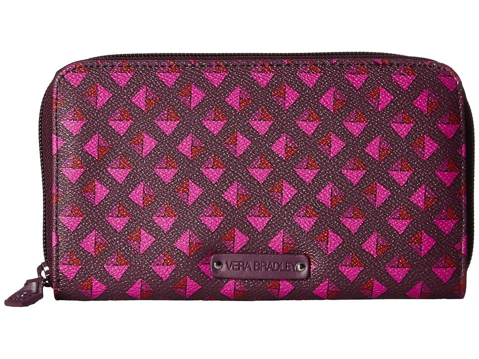 Vera Bradley - Accordion Wallet (Plum Studs) Wallet Handbags