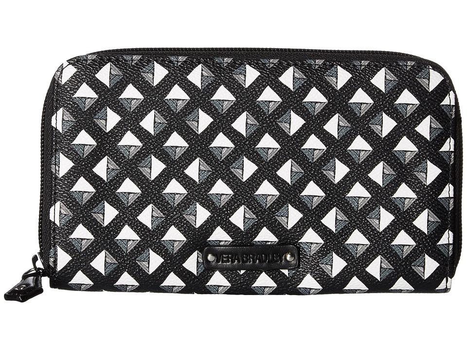 Vera Bradley - Accordion Wallet (Black White Studs) Wallet Handbags