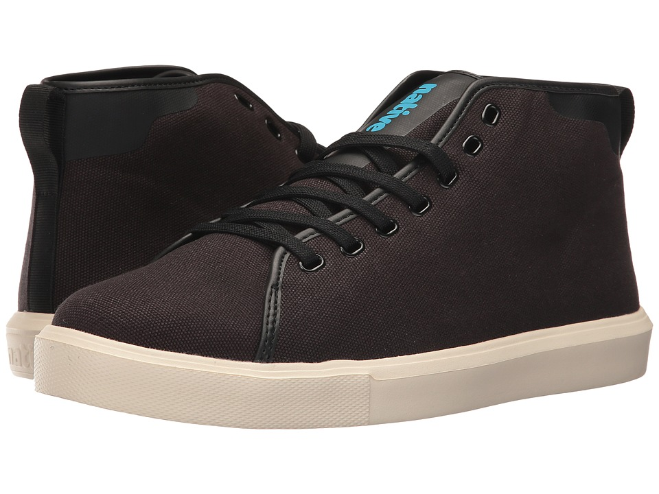 Native Shoes Monaco Mid (Jiffy Black Wax/Bone White Canvas) Lace up casual Shoes