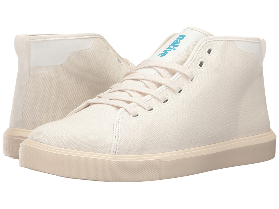 Native Shoes Monaco Mid (Shell White Wax/Bone White Canvas) Lace up casual Shoes