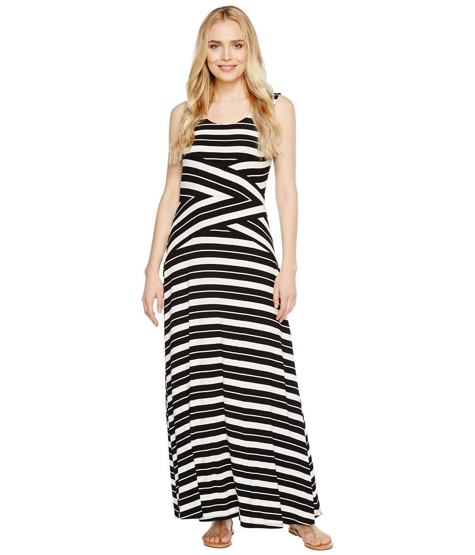 Calvin Klein Striped Crisscross Maxi Dress