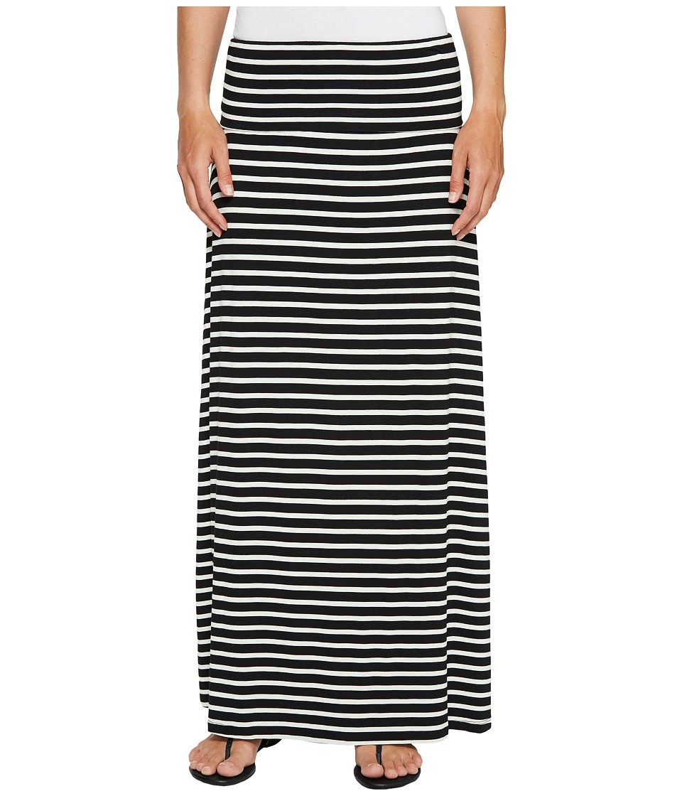 Calvin Klein - Striped Maxi Skirt (Black/White) Women's Skirt