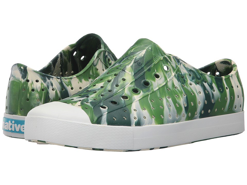 Native Shoes - Jefferson (Botanic Green/Shell White/Marbled) Shoes