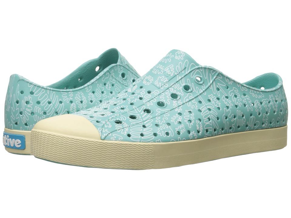 Native Shoes Jefferson (Pool Blue/Bone White/Matease Print) Shoes