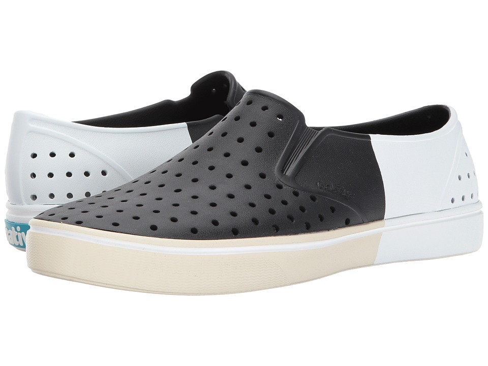 Native Shoes - Miles (Jiffy Black/Bone White/Shell Block) Athletic Shoes