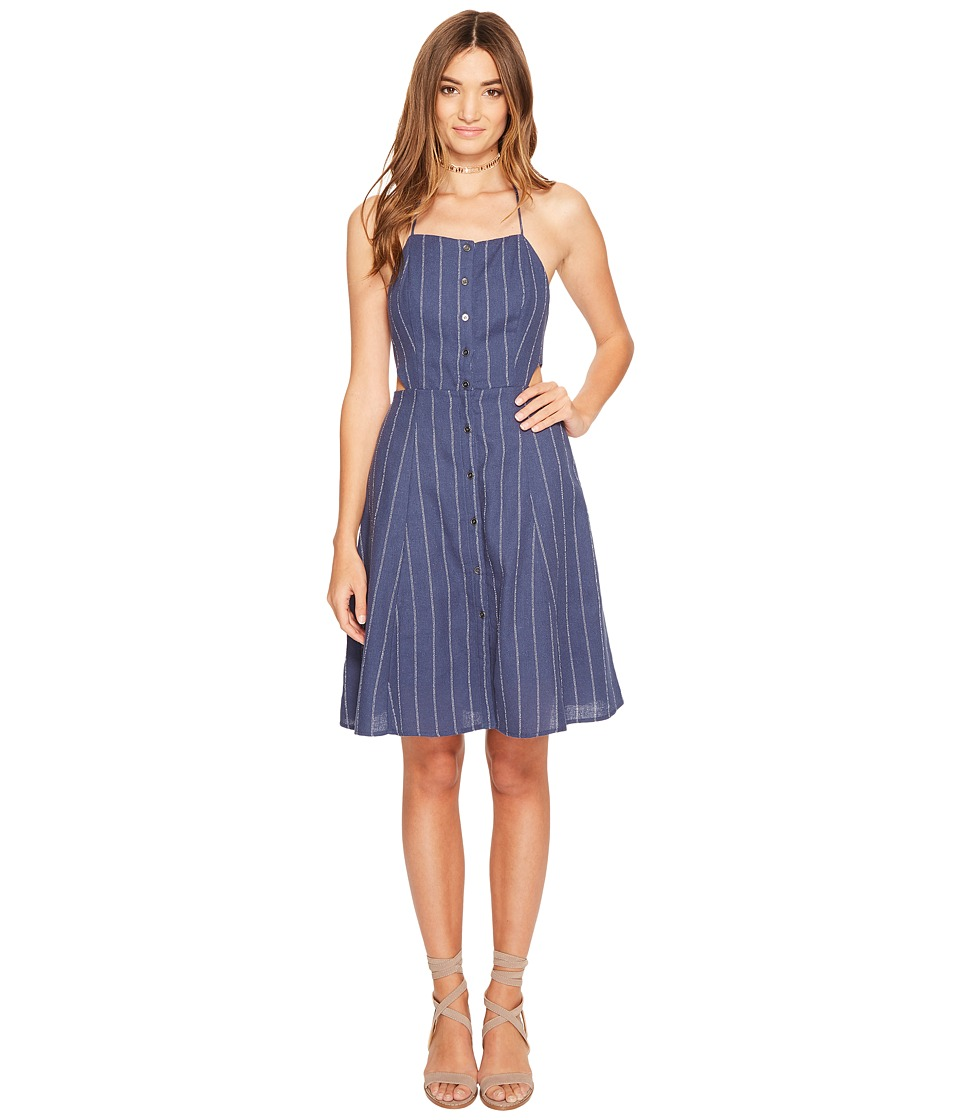 ASTR the Label - Paulina Dress (Denim Blue Stripe) Women's Dress