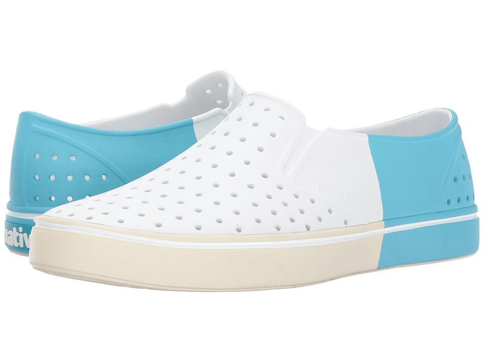 Native Shoes - Miles (Shell White/Bone White/Surfer Block) Athletic Shoes