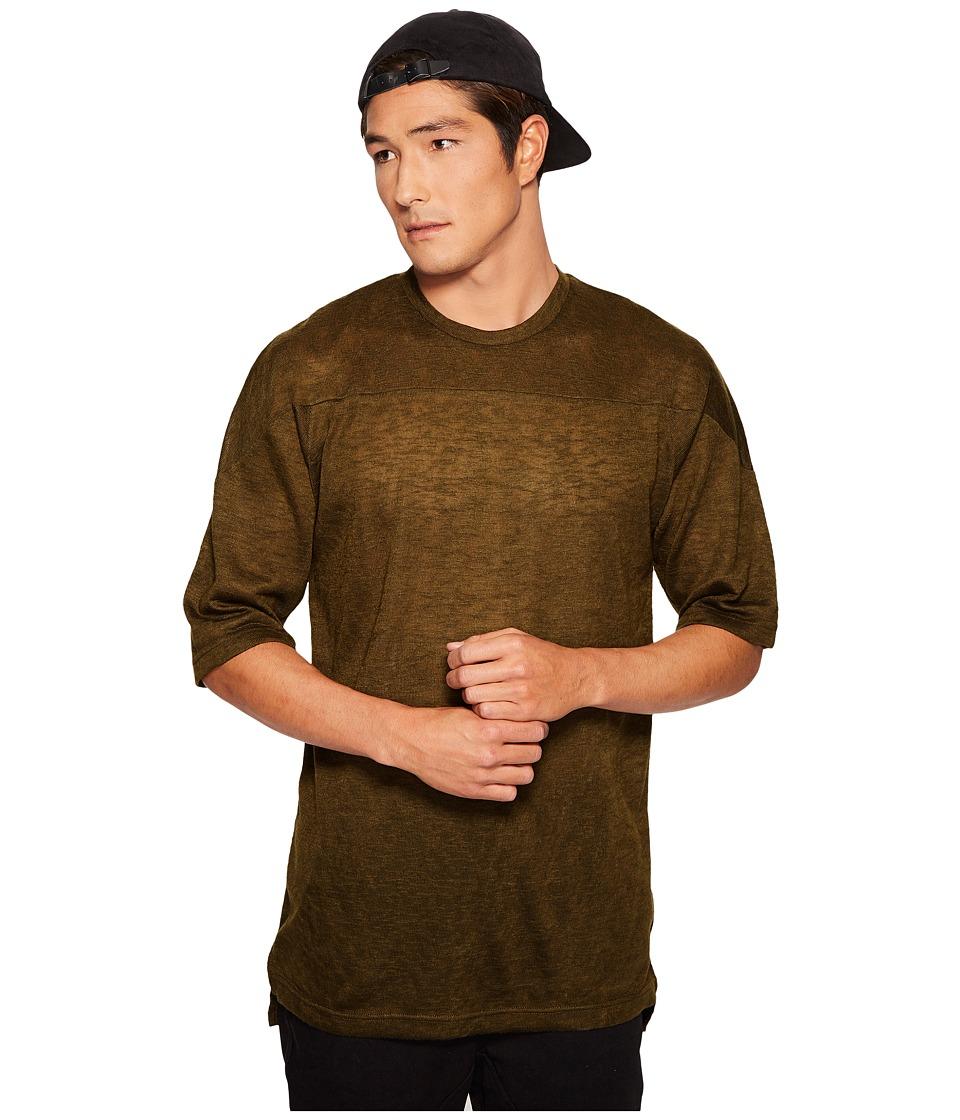 Publish - Declan Knit T-Shirt (Olive) Men's T Shirt