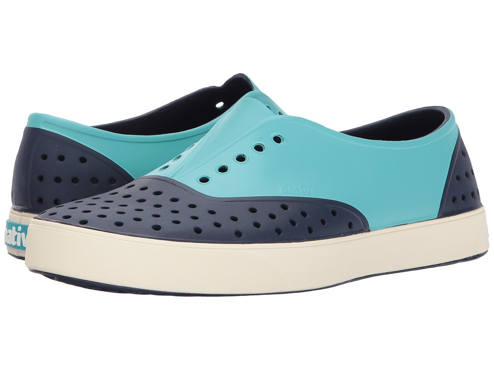 Native Shoes - Miller (Regatta Block/Bone White/Pool Block) Slip on Shoes