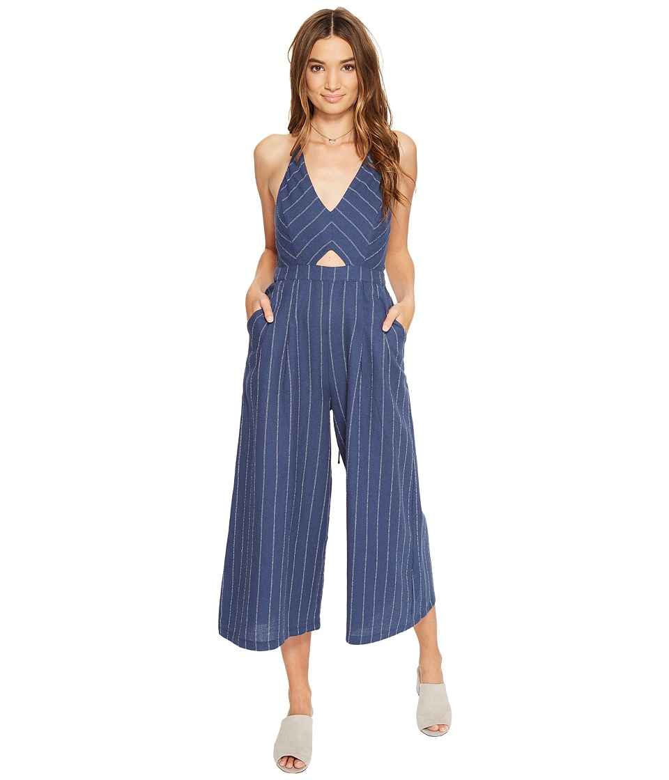 ASTR the Label - Alexa Jumpsuit (Denim Blue Stripe) Women's Jumpsuit & Rompers One Piece