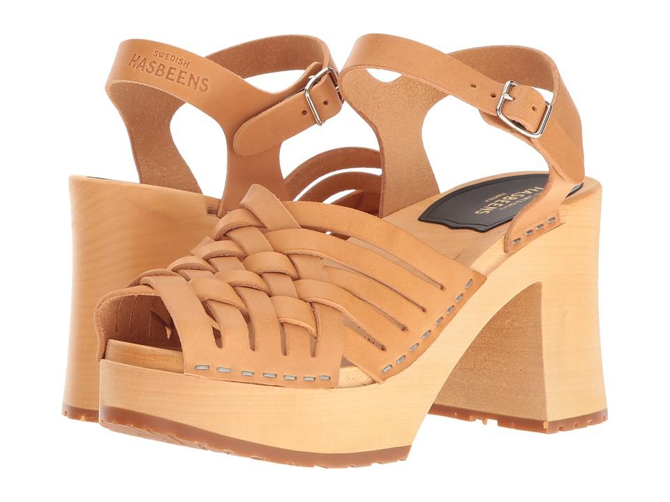 Swedish Hasbeens - Gullan (Nature) Women's Clog/Mule Shoes