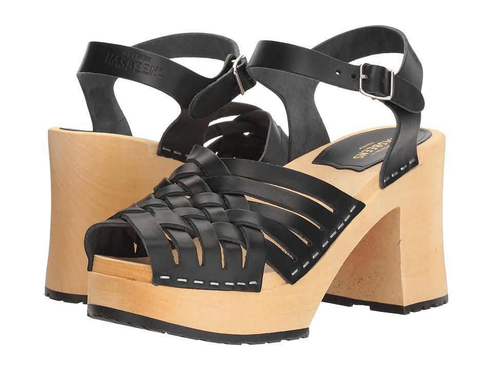 Swedish Hasbeens - Gullan (Black) Women's Clog/Mule Shoes