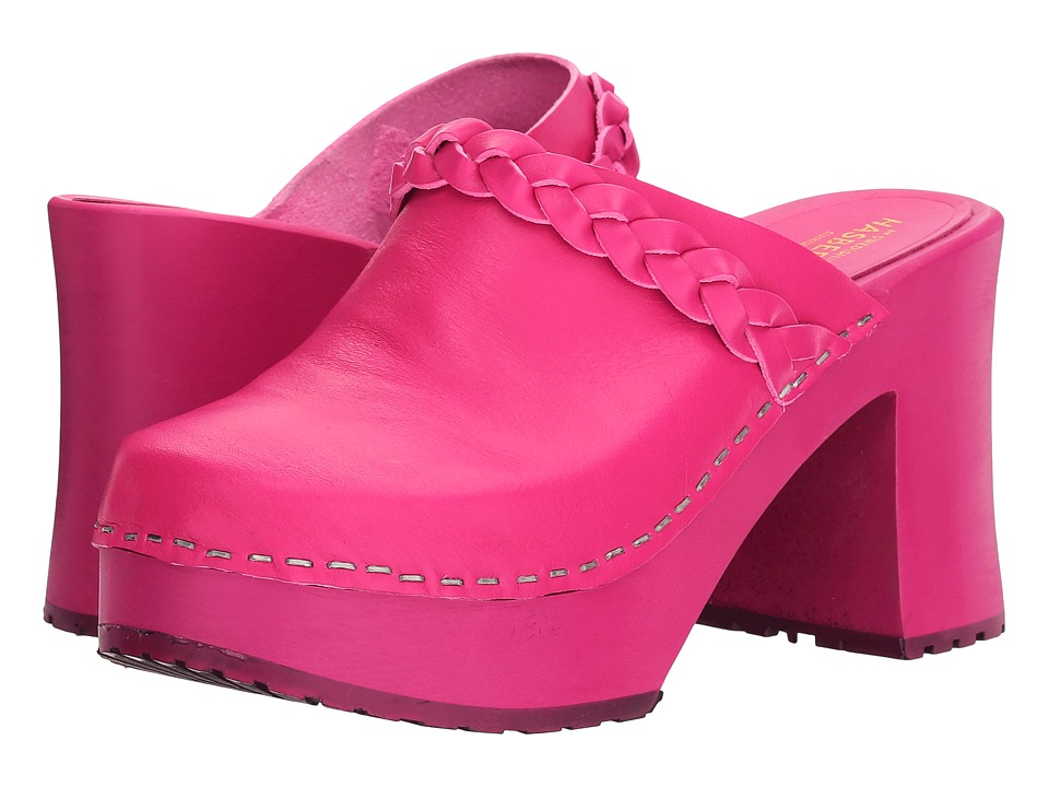 Swedish Hasbeens - Laila (Neon Pink/Neon Pink) Women's Clog Shoes