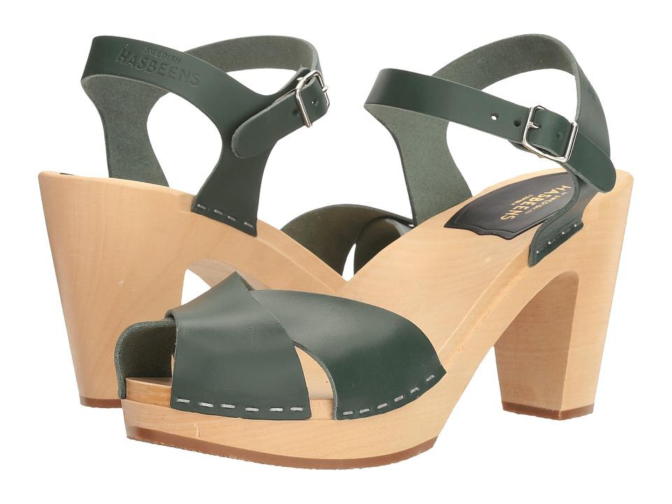 Swedish Hasbeens Merci Sandal (Deep Green) Women