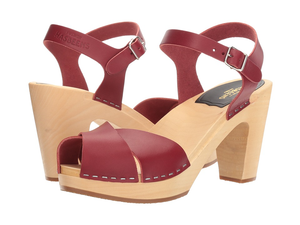 Swedish Hasbeens - Merci Sandal (Wine Red) Women's Clog/Mule Shoes