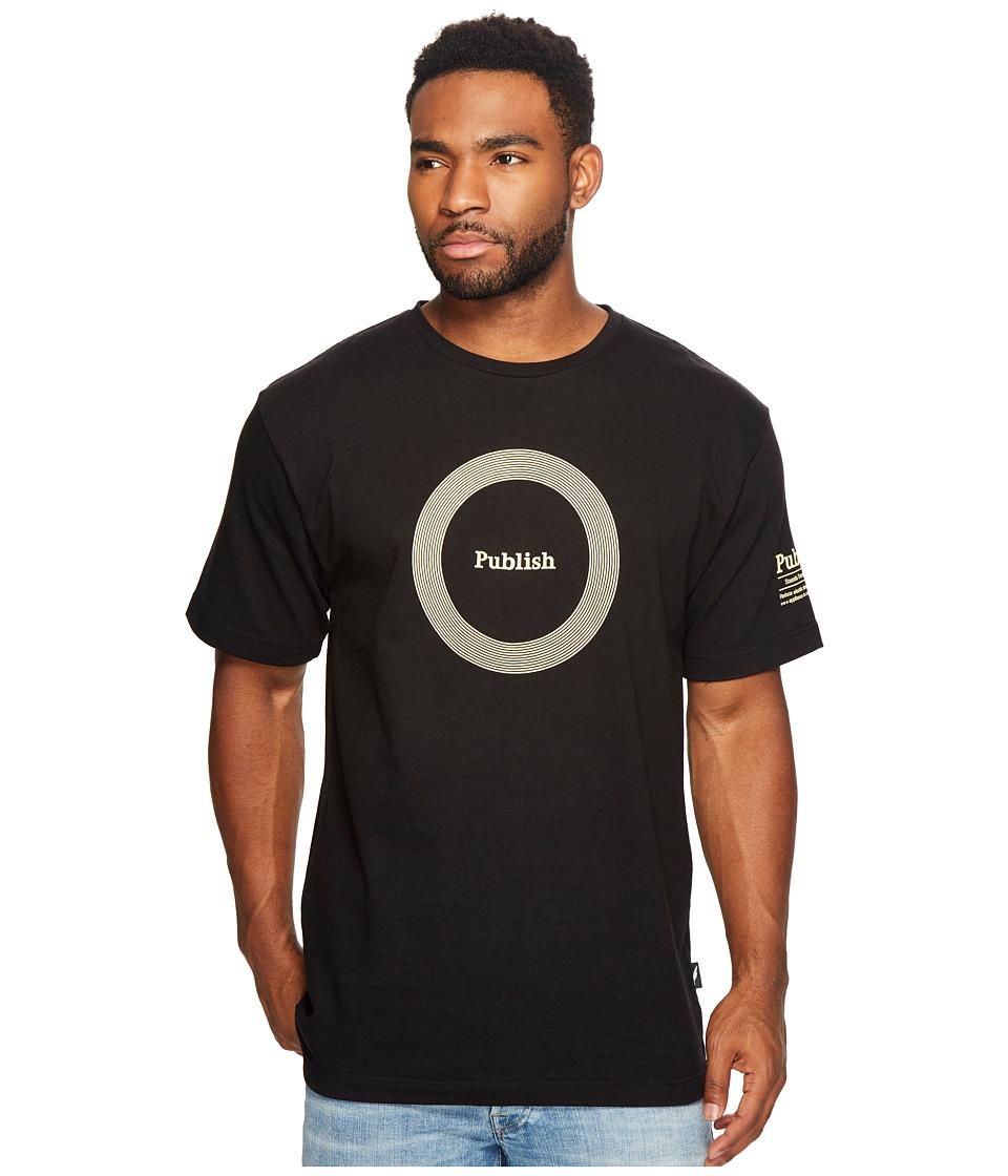 Publish - Publish Sounds Print T-Shirt (Black) Men's Clothing
