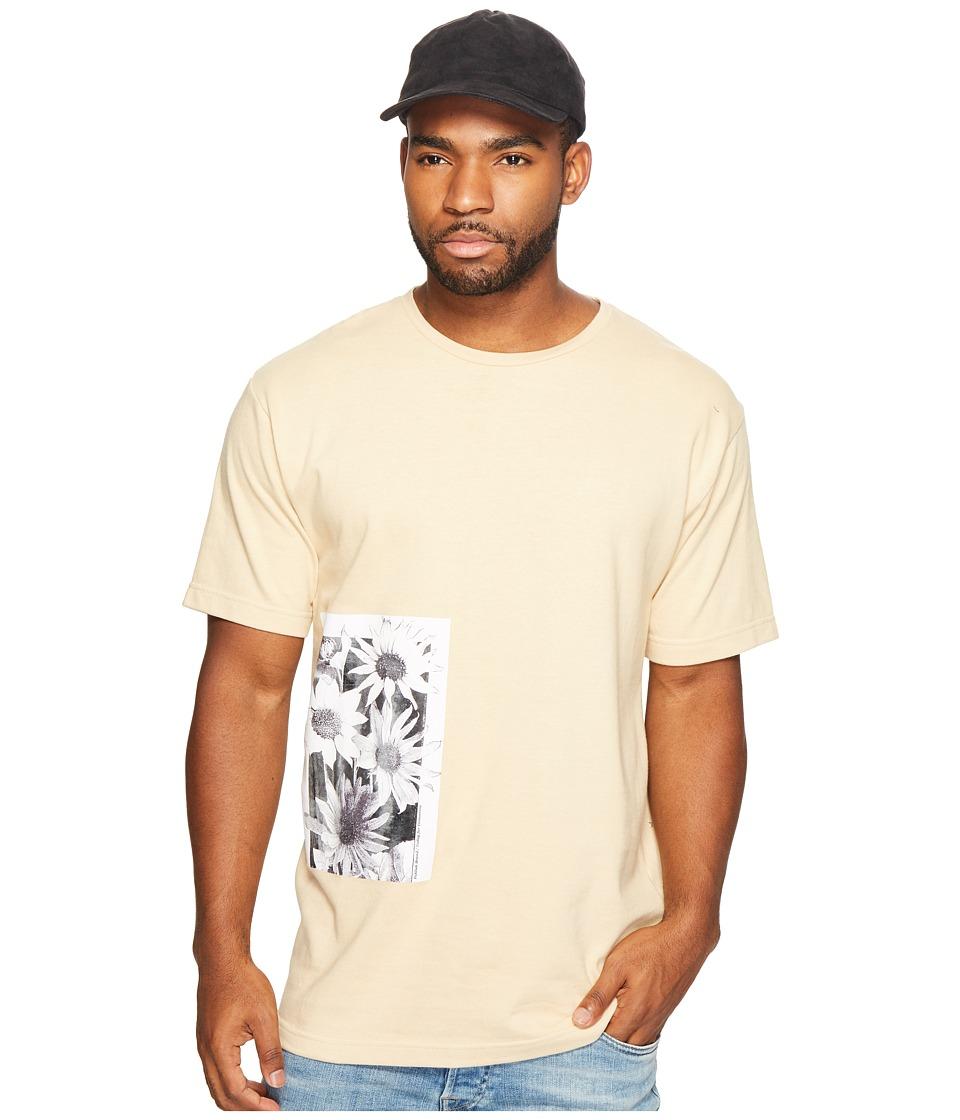 Publish - Daisy Page Print T-Shirt (Tan) Men's Clothing