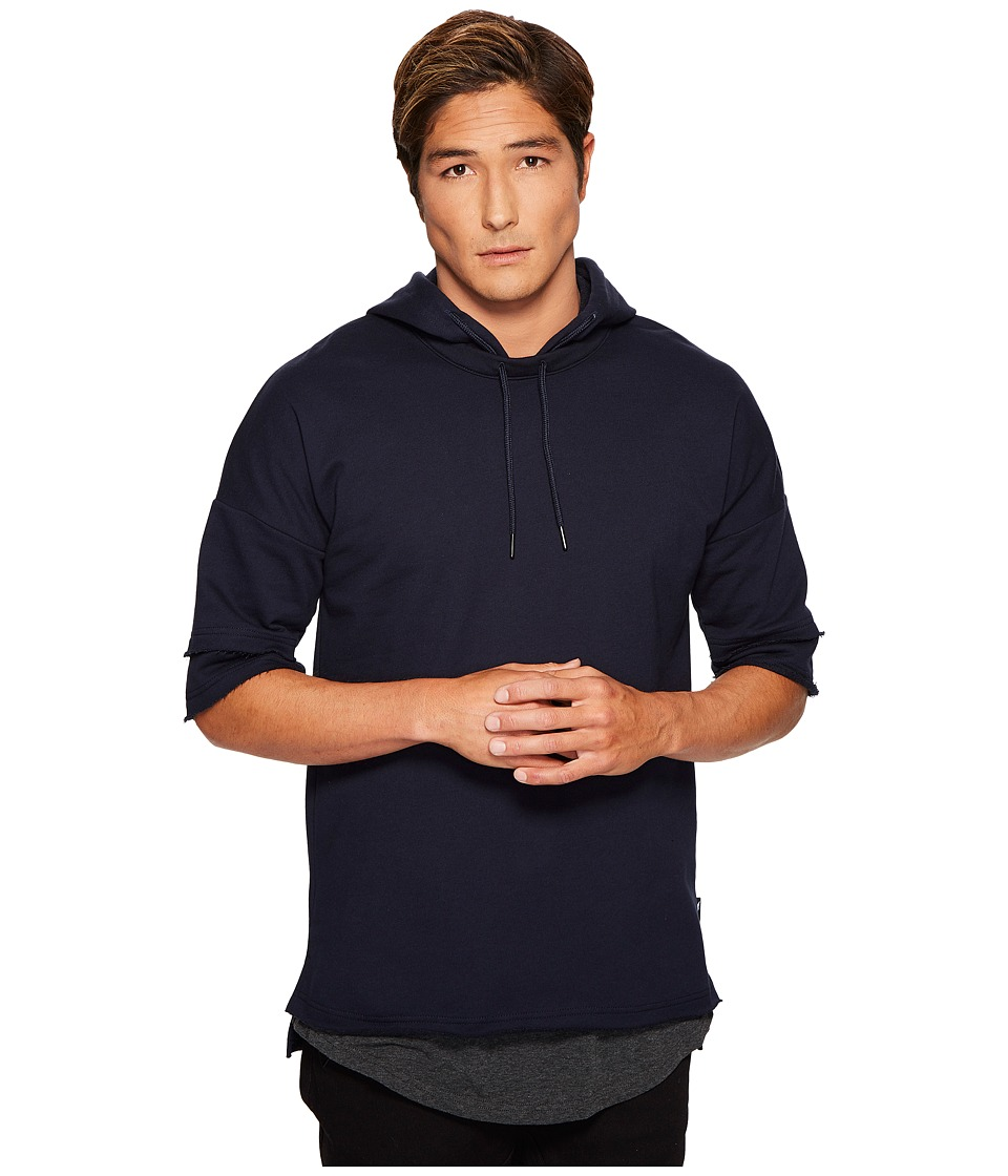 Publish - Kaiden Hooded Short Sleeve Shirt (Navy) Men's Short Sleeve Pullover