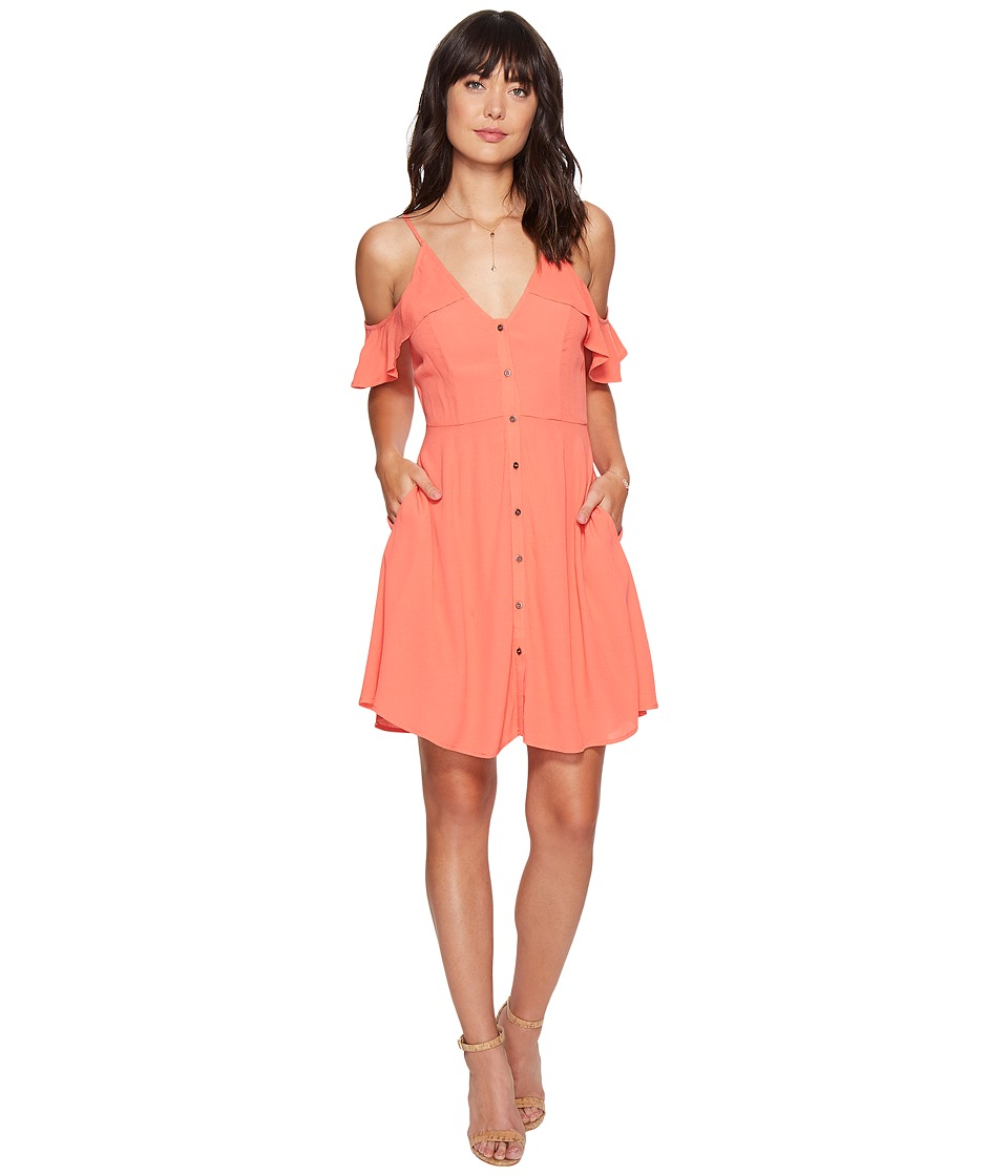 ASTR the Label Gabriella Dress (Hot Coral) Women
