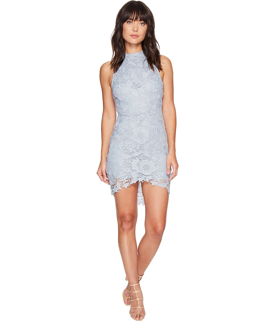 ASTR the Label - Samantha Lace Dress (Dusty Blue) Women's Dress