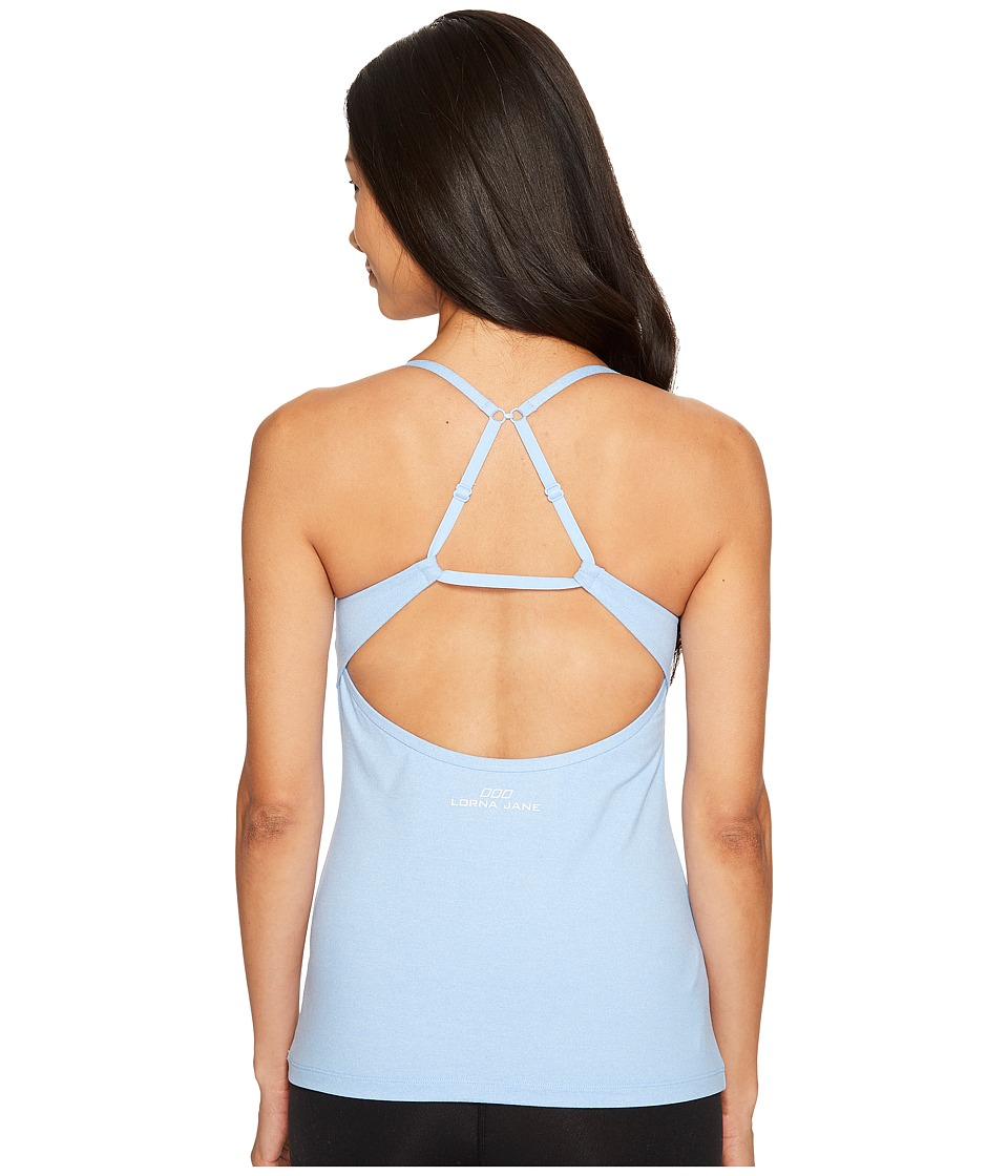 Lorna Jane Comodity Excel Tank Top (Moontide Marl) Women