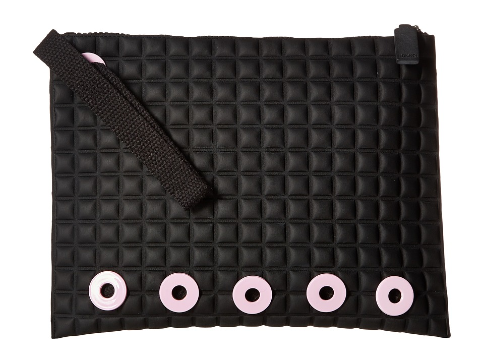NO KA'OI - Komo Medium Pouch (Black/Pink) Travel Pouch
