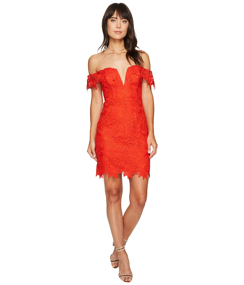 ASTR the Label Daniela Dress (Hot Red) Women
