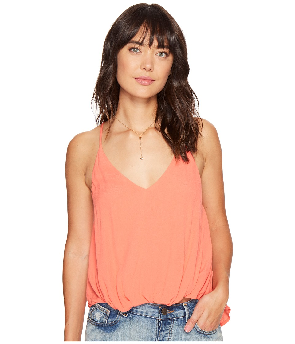 ASTR the Label - Desiree Top (Hot Coral) Women's Clothing