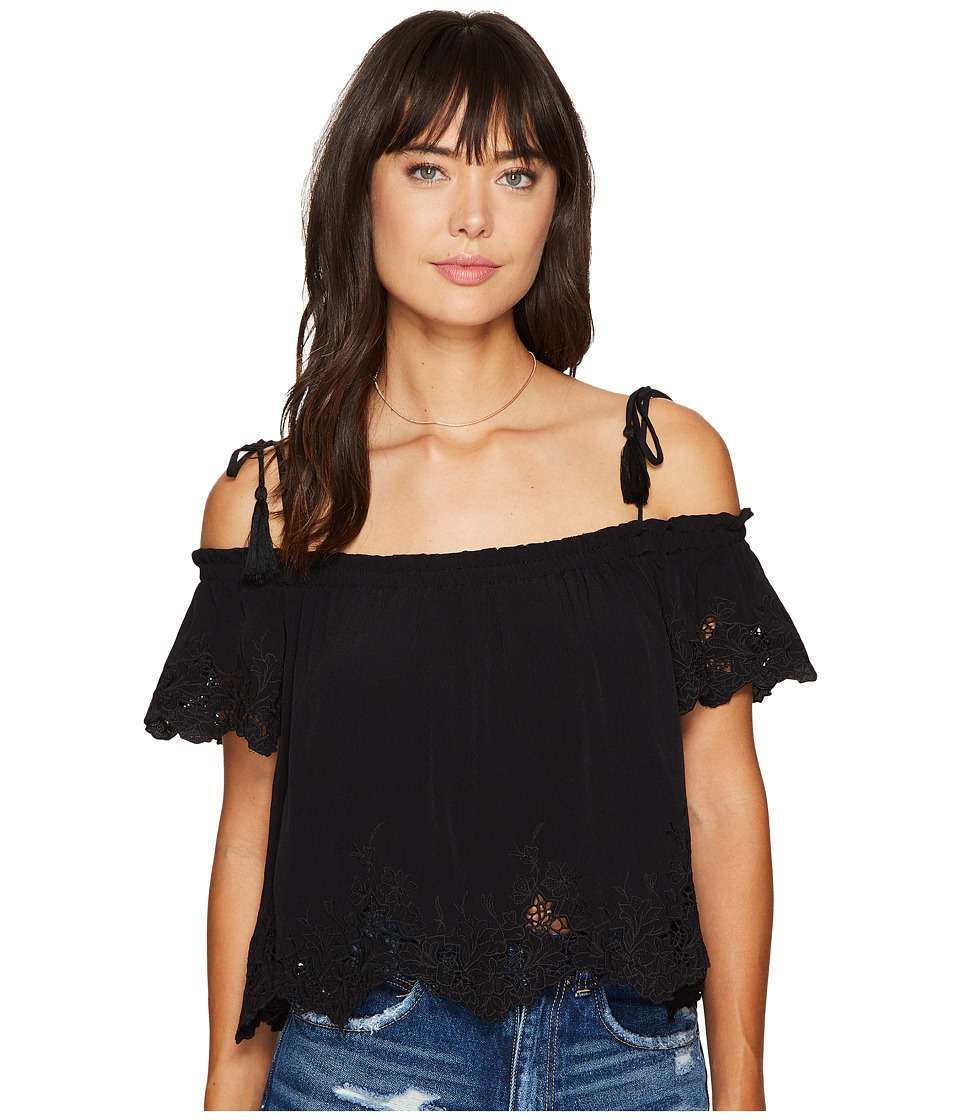 ASTR the Label - Nadia Top (Black) Women's Clothing