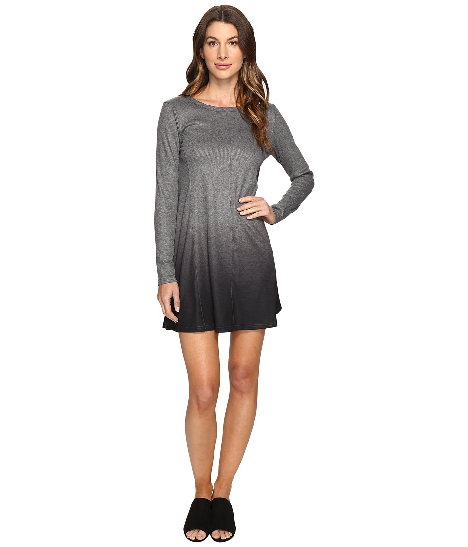 Culture Phit Leighton Long Sleeve Ombre Dress (Charcoal) Women