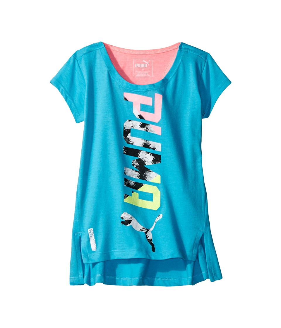 Puma Kids - PUMA Cap Sleeve Top (Big Kids) (Blue Atoll) Girl's Clothing