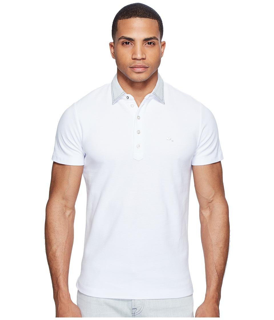 Diesel - T-Orange-Denim Polo (White) Men's Short Sleeve Pullover