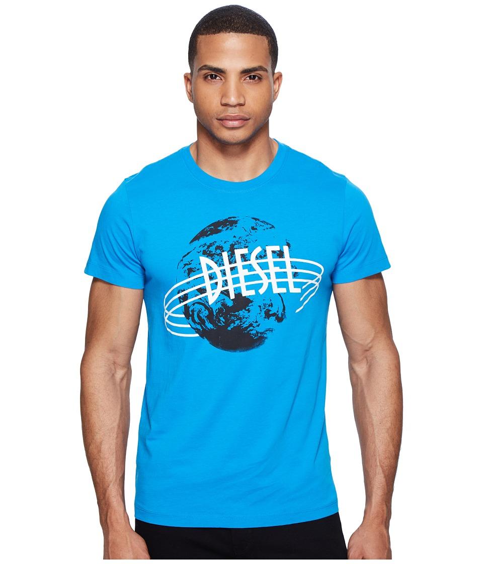 Diesel - T-Diego-NC T-Shirt (Mediterranean Blue) Men's T Shirt