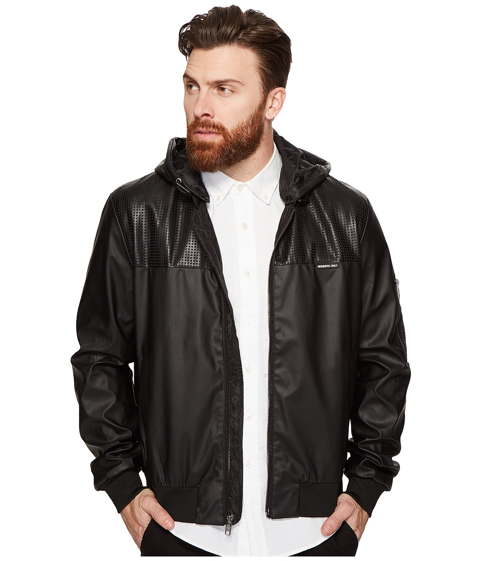 Members Only - Coated Nylon Myrtle Jacket (Black) Men's Coat