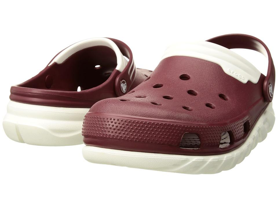 Crocs Duet Max Clog (Garnet/White) Clog Shoes