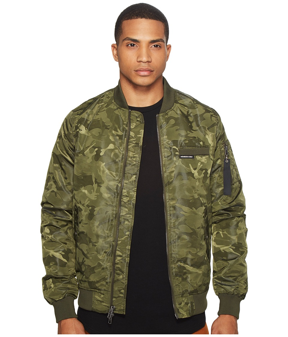 Members Only - MO-1 Jacquard Bomber (Olive) Men's Coat