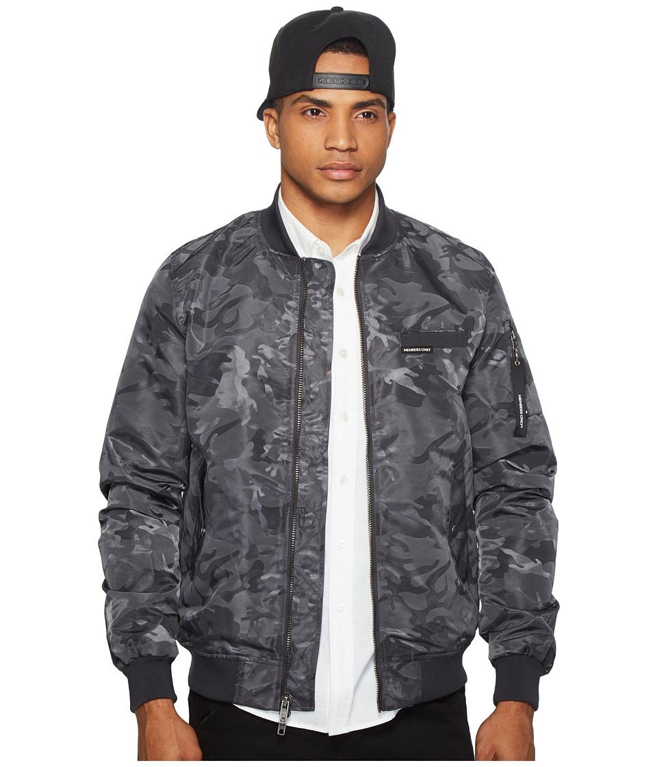 Members Only - MO-1 Jacquard Bomber (Charcoal) Men's Coat