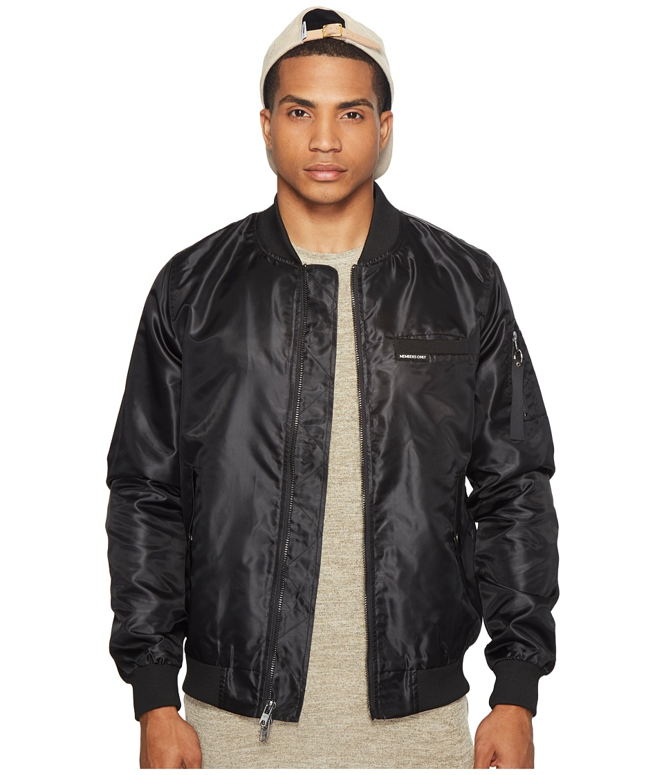 Members Only - MO-1 Bomber w/ Grafitti Lining (Black) Men's Coat