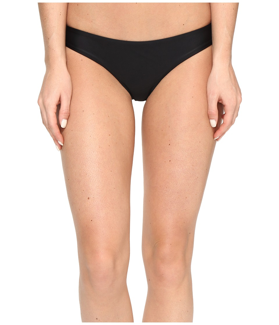 RVCA - Solid Cheeky Bottom (Black) Women's Swimwear