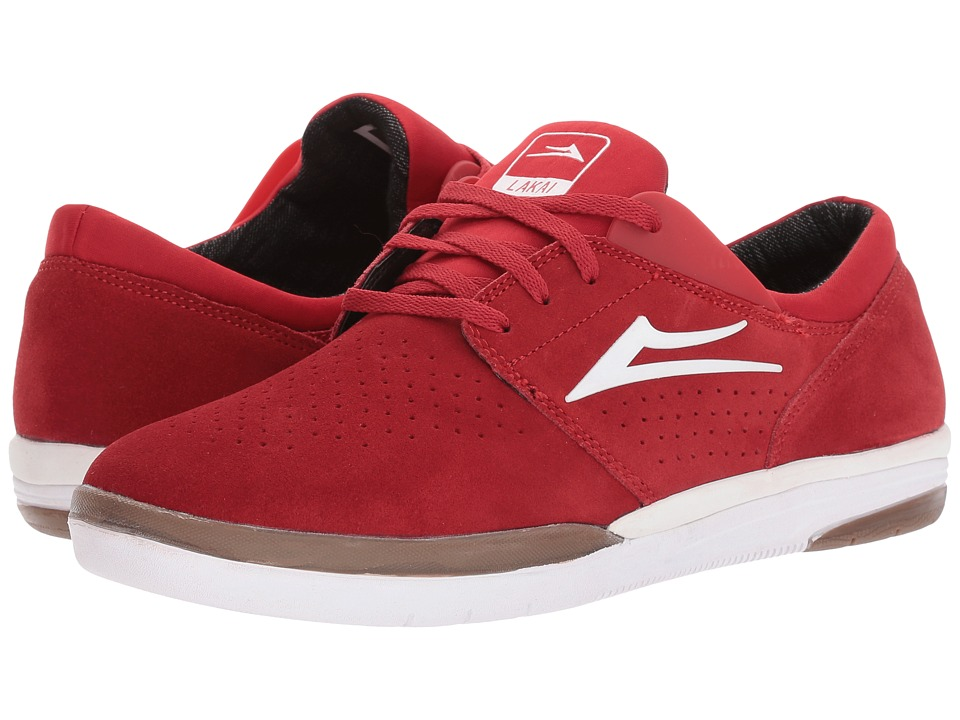 Lakai - Fremont (Red Suede) Men's Skate Shoes