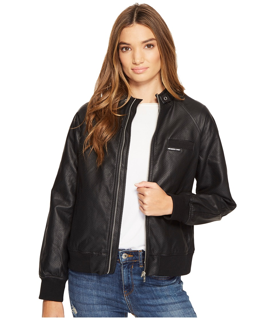 Members Only - Perforated Boyfriend Jacket (Black) Women's Coat