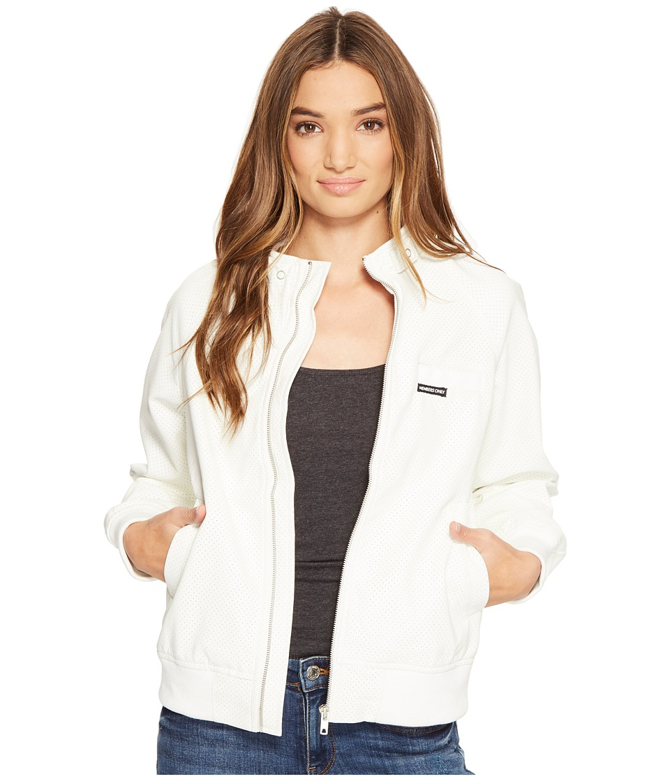 Members Only - Perforated Boyfriend Jacket (White) Women's Coat