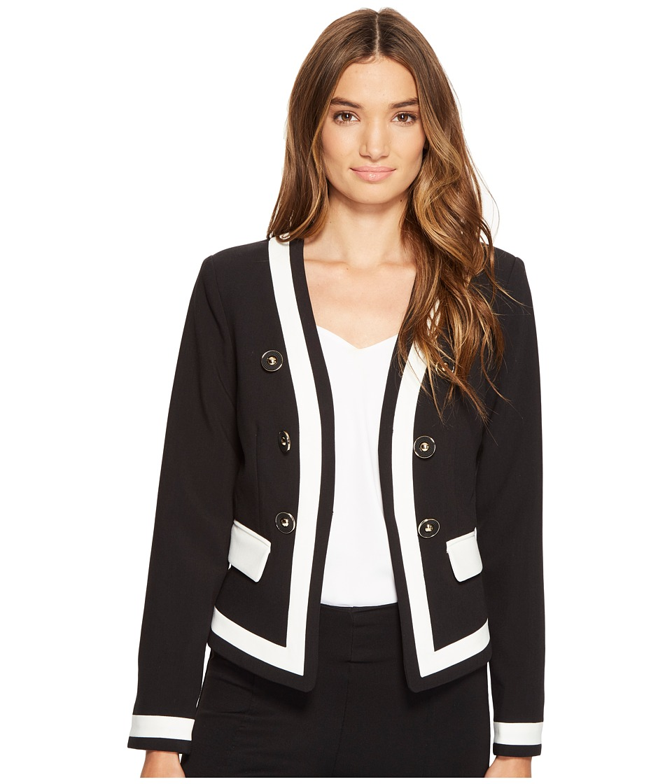 XOXO - Color Blocked Sailor Jacket (Black) Women's Coat